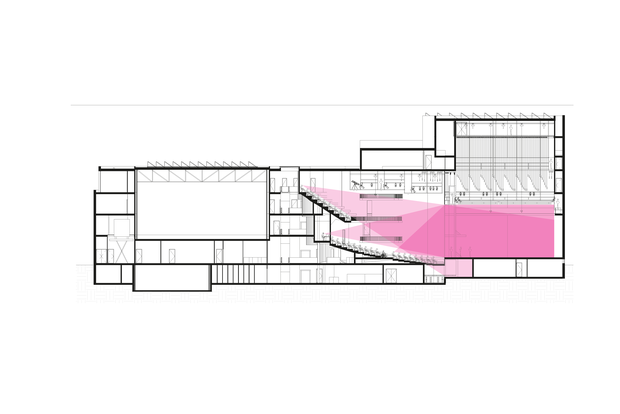 Theater aan de Parade © Kraaijvanger Architects - doorsnede zichtlijn.png